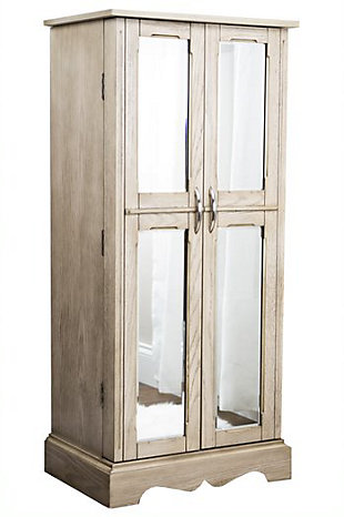 Chelsea Jewelry Armoire, Gray, large