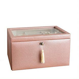 Emily Jewelry Box, Blush, large