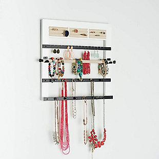 Modern Jewelry Rack, White, rollover