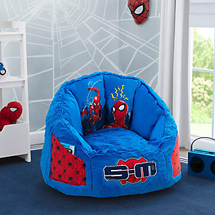 Delta Children Spider-Man Cozee Fluffy Chair with Memory Foam Seat, Kid Size, , rollover