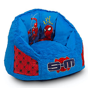 Delta Children Spider-Man Cozee Fluffy Chair with Memory Foam Seat, Kid Size, , large