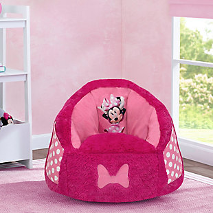 Delta Children Disney Minnie Mouse Cozee Fluffy Chair, Toddler Size, , rollover