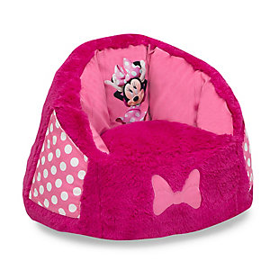 Delta Children Disney Minnie Mouse Cozee Fluffy Chair, Toddler Size, , large