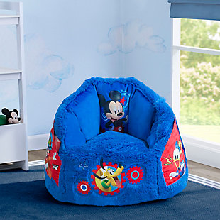Delta Children Disney Mickey Mouse Cozee Fluffy Chair, Toddler Size, , rollover
