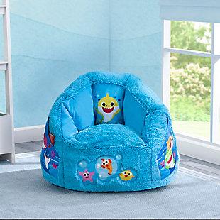 Delta Children Ba Shark Cozee Fluffy Chair, Toddler Size, , rollover
