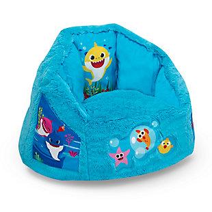Delta Children Ba Shark Cozee Fluffy Chair, Toddler Size, , large
