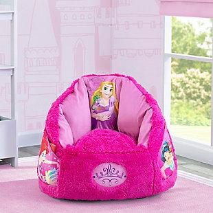 Delta Children Disney Princess Cozee Fluffy Chair, Toddler Size, , rollover
