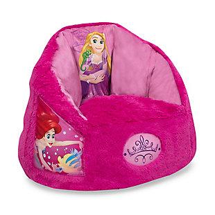 Delta Children Disney Princess Cozee Fluffy Chair, Toddler Size, , large