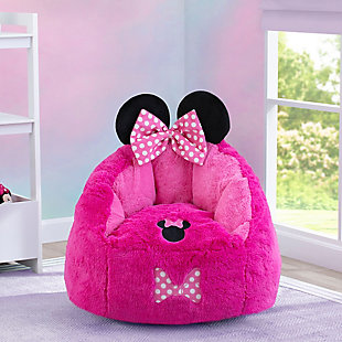 Delta Children Disney Minnie Mouse Cozee Figural Chair, Toddler Size, , rollover