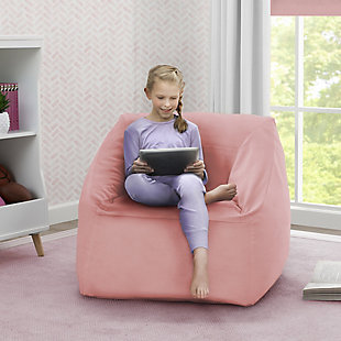 Delta Children Cozee Cube Chair, Kid Size, Pink, large