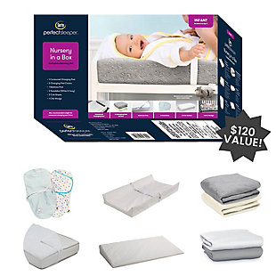 Serta 9-Piece Nursery-in-a-Box Newborn Baby Gift Set for Boys and Girls, , rollover