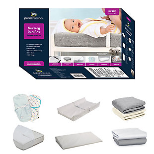 Serta 9-Piece Nursery-in-a-Box Newborn Baby Gift Set for Boys and Girls, , large