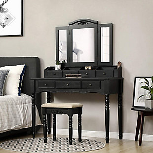 VASAGLE Vanity Set with 7 Drawers, , rollover