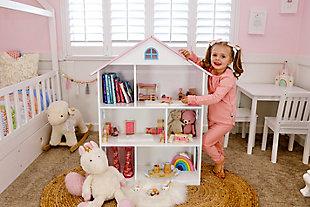 Wildkin Dollhouse Bookcase, White, large