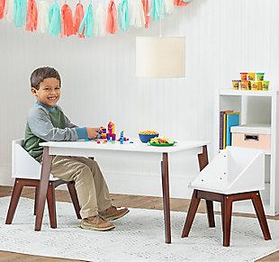 Wildkin Modern Table and Chair Set, Espresso, rollover