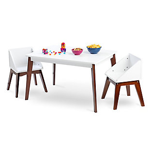 Wildkin Modern Table and Chair Set, Espresso, large