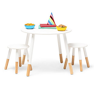 Wildkin Scandi Table and Chair Set, Natural, large