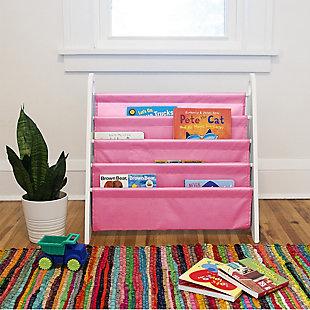 Wildkin Modern Sling Bookshelf, Pink, rollover