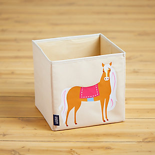 "Wildkin Horses 10"" Storage Cube, , rollover"