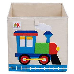 """Wildkin Train 13"""" Storage Cube, , large"""