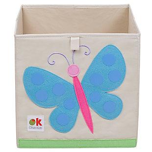 """Wildkin Butterflies 13"""" Storage Cube, , large"""