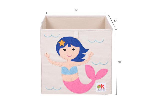 "Wildkin Mermaids 13"" Storage Cube, , large"