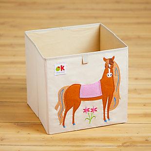 "Wildkin Horses 13"" Storage Cube, , rollover"