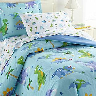 Wildkin Dinosaur Land Lightweight Cotton Twin Comforter Set, , rollover