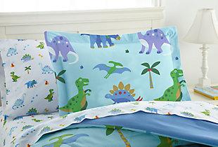 Wildkin Dinosaur Land Lightweight Cotton Twin Comforter Set, , large
