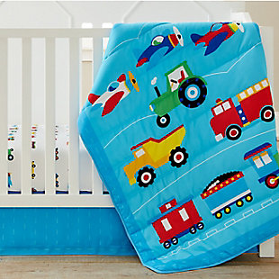 Wildkin Trains, Planes and Trucks 3 pc Microfiber Nursery Bed in a Bag, , rollover