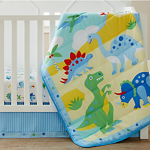 Wildkin Dinosaur Land 3 pc Microfiber Nursery Bed in a Bag, , rollover