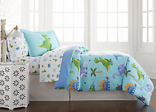 Wildkin Dinosaur Land Cotton Full Comforter Set, , large