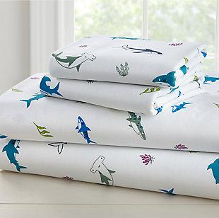 Wildkin Shark Attack 100% Cotton Twin Sheet Set, , large