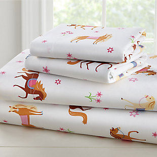 Wildkin Horses Super Soft 100% Cotton Full Sheet Set, , large