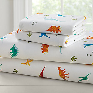 Wildkin Jurassic Dinosaurs Super Soft 100% Cotton Full Sheet Set, , large