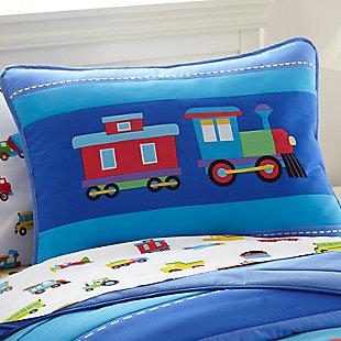 Wildkin Trains, Planes and Trucks Cotton Pillow Sham, , rollover