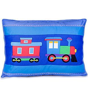 Wildkin Trains, Planes and Trucks Cotton Pillow Sham, , large