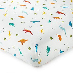 Wildkin Jurassic Dinosaurs 100% Cotton Fitted Crib Sheet, , rollover