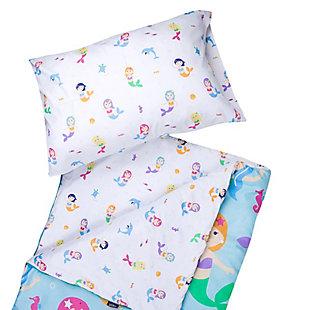 Wildkin Mermaids Microfiber Sleeping Bag with Pillowcase, , rollover