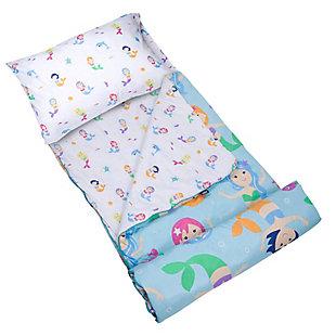 Wildkin Mermaids Microfiber Sleeping Bag with Pillowcase, , large
