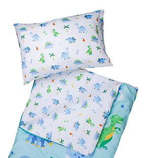 Wildkin Dinosaur Land Microfiber Sleeping Bag with Pillowcase, , rollover