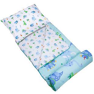 Wildkin Dinosaur Land Microfiber Sleeping Bag with Pillowcase, , large