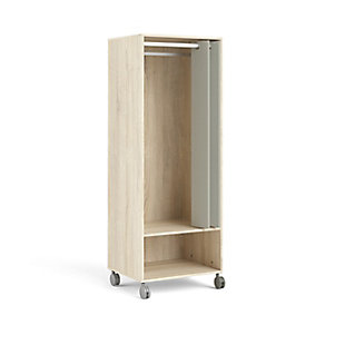 Lola 1 Shelf Armoire with Hanging Rod and Curtain, , large