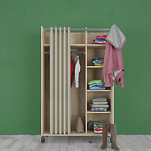 Lola Armoire with Curtain, , rollover