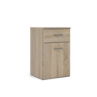 Space  1 Drawer and 1 Door Nightstand, , large