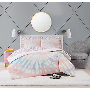 Material Girl Tie Dye Party Twin Bed in a Bag, Multi, rollover