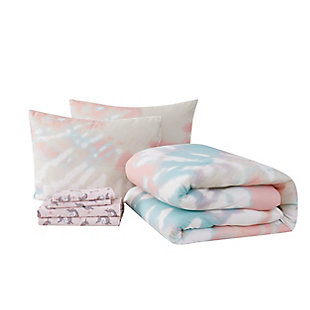 Material Girl Tie Dye Party Twin Bed in a Bag, Multi, large
