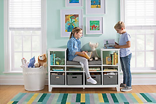 Guidecraft Martha Stewart Living and Learning Kids' Reading Nook, White, rollover