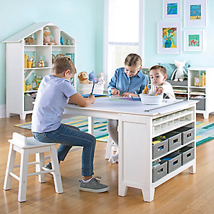 Guidecraft Martha Stewart Living and Learning Kids' Art Table and Stool Set, , rollover