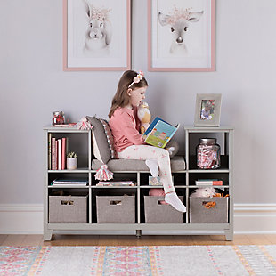 Guidecraft Martha Stewart Living and Learning Kids' Reading Nook, Gray, rollover